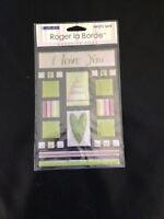 Roger La Borde Wedding Adhesive Tiles Cake Hearts Flowers Sticko