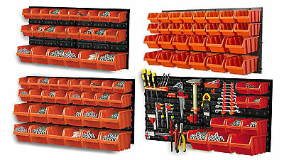 Plastic Storage Bin Kit +Wall Mounted Panels- All With Different Combinations