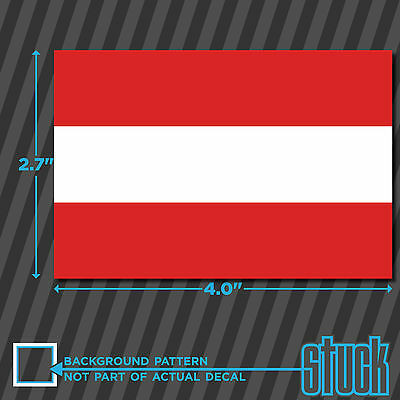 Austrian Flag Sticker Self Adhesive Vinyl Austria