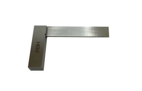 "RDGTOOLS 4/"" ENGINEERS PRECISION STEEL SQUARE MEASURING MARKING"