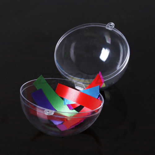 Christmas Xmas Tree Ball Clear Snack Candy Boxes Ornament Decor 4//6//8//10//12cm