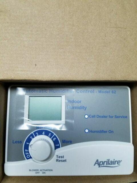 automatic digital humidifier control Aprilaire model 62