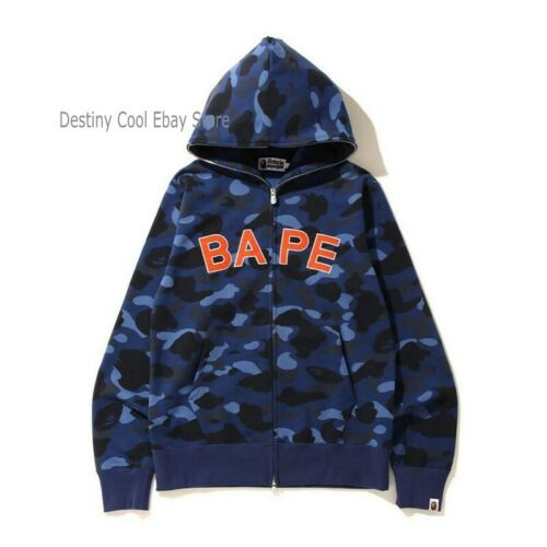 Casual Zipper Camouflage Letter A Bathing Ape BAPE Coat Jacket Hoodie Sweatshirt