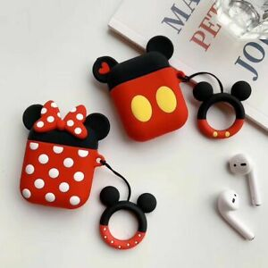 Mickey Mouse Minnie Earphone Cover For Apple Airpods Charging Case Holder Bag Ebay