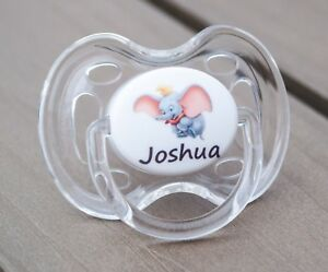 ALL TEATS,SIZES /& COLOURS DINOSAUR PERSONALISED DUMMY PACIFIER SOOTHER