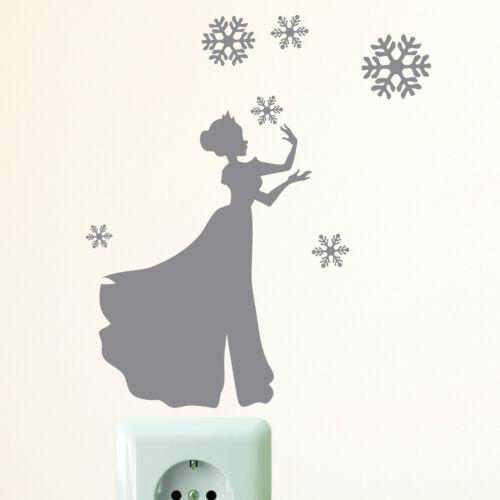 10831 Lichtschalter Steckdose Aufkleber Eis Prinzesszin Schneeflocken Königin
