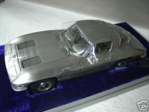 Chevrolet Corvette Stingray Etain Fin Au 1/12 De Franklin Mint B12b812 Miniature