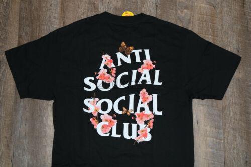 IN-HAND 100/% Authentic Anti Social Social Club ASSC Kkoch Flowers Logo Tee Black
