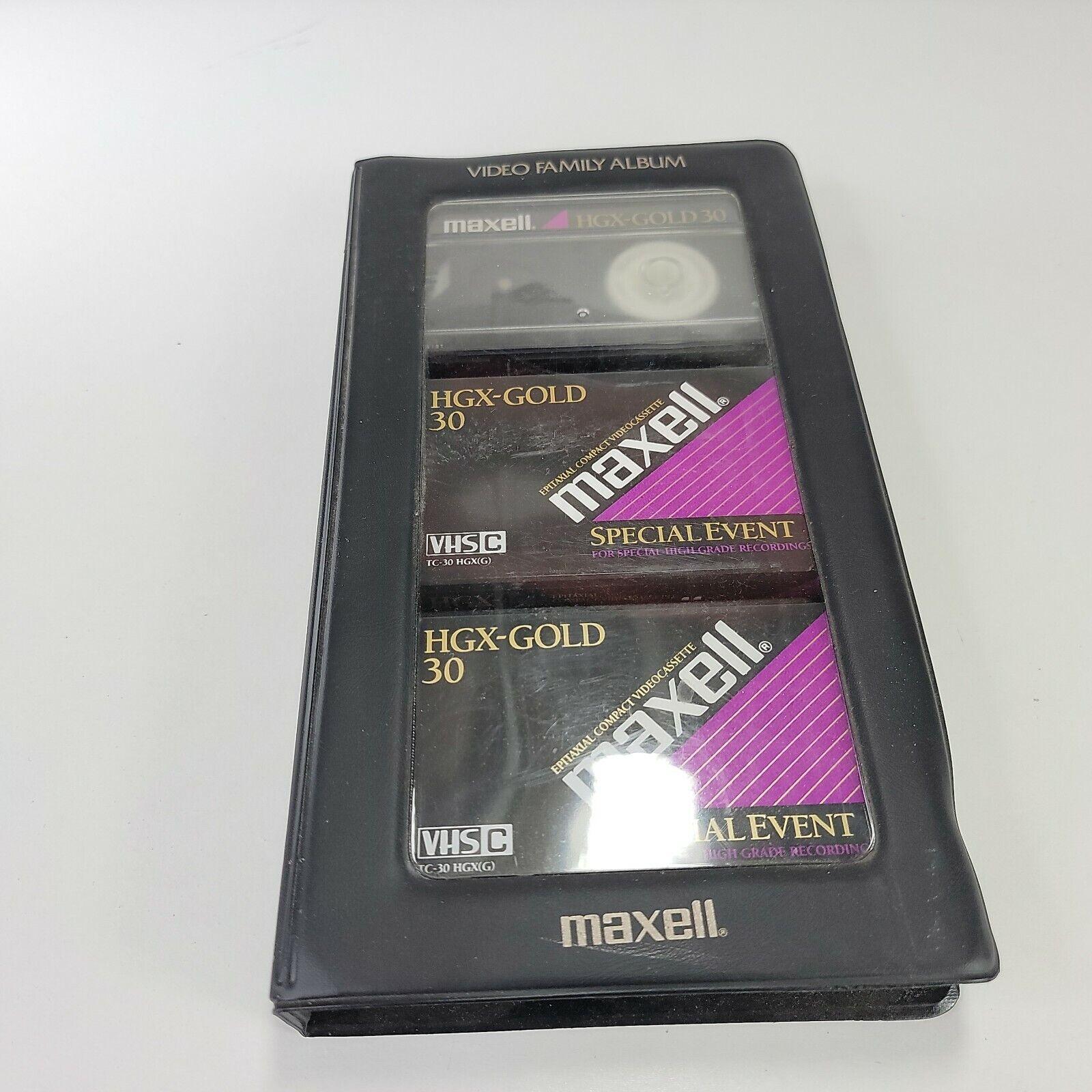 Video Family Album 3 Maxell HGX-Gold TC30 VHS-C High Grade Video Cassettes