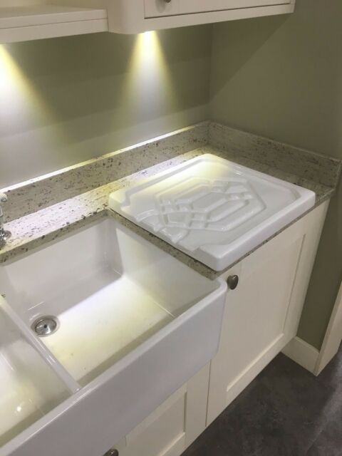 Belfast Sink Butler White Ceramic Kitchen Drainer