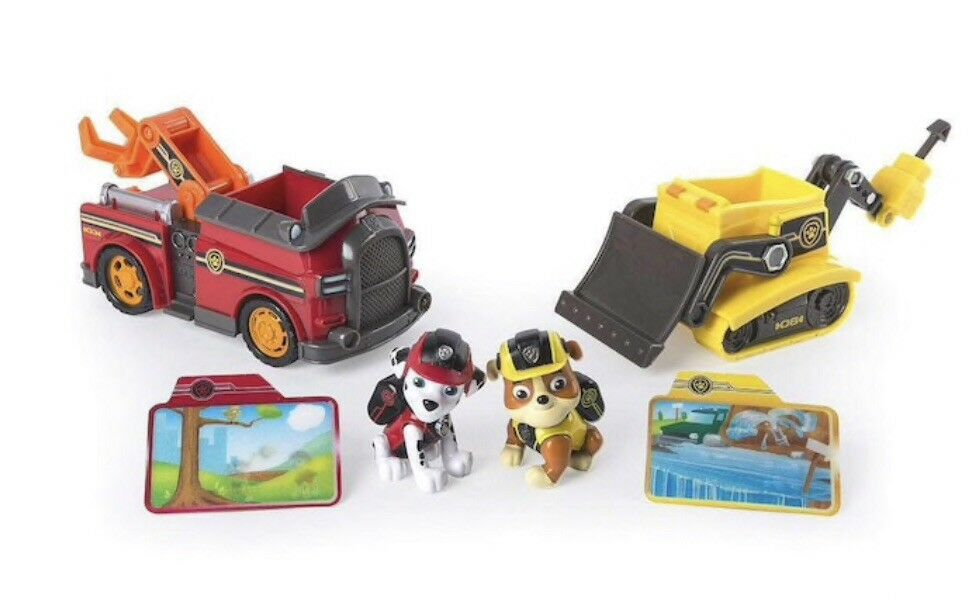 Nickelodeon Paw Patrol Mission Rescue Vehicles Marshall & Rubble Toy's R Us Excl