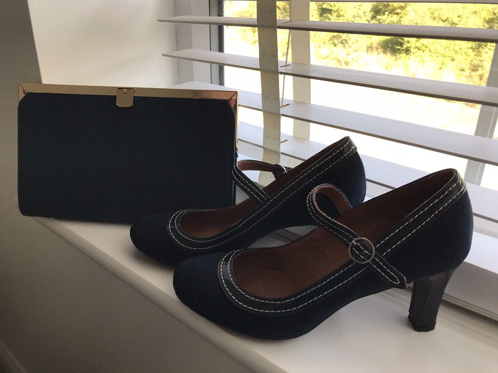 Navy Shoes and Coordinating handbag