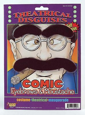 Comic Groucho Marx Theatrical Disguises Moustache Series
