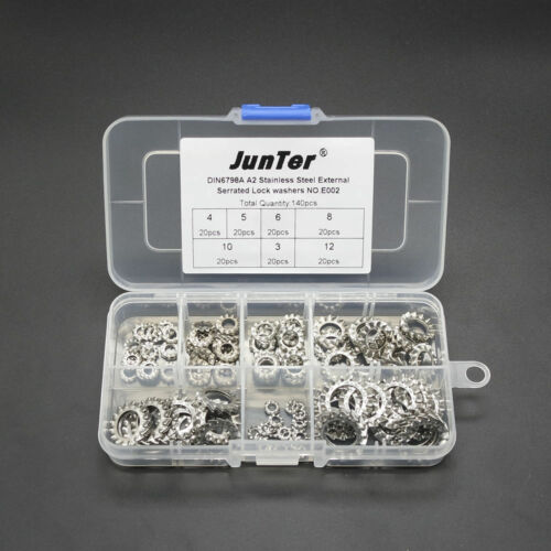 High quality 140pcs M3-M12 DIN6798A External Serrated Lock Washers Kit NO.E002