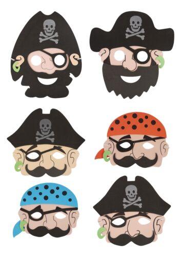 Child Friendly Pirate Marin en Mousse Souple Masque Costume Fancy Dress Party Big Pack!
