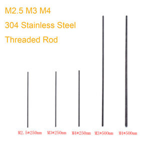 Threaded-Rod-304-Stainless-Steel-Screw-M2-M2-5-M3-M4-250mm-500mm