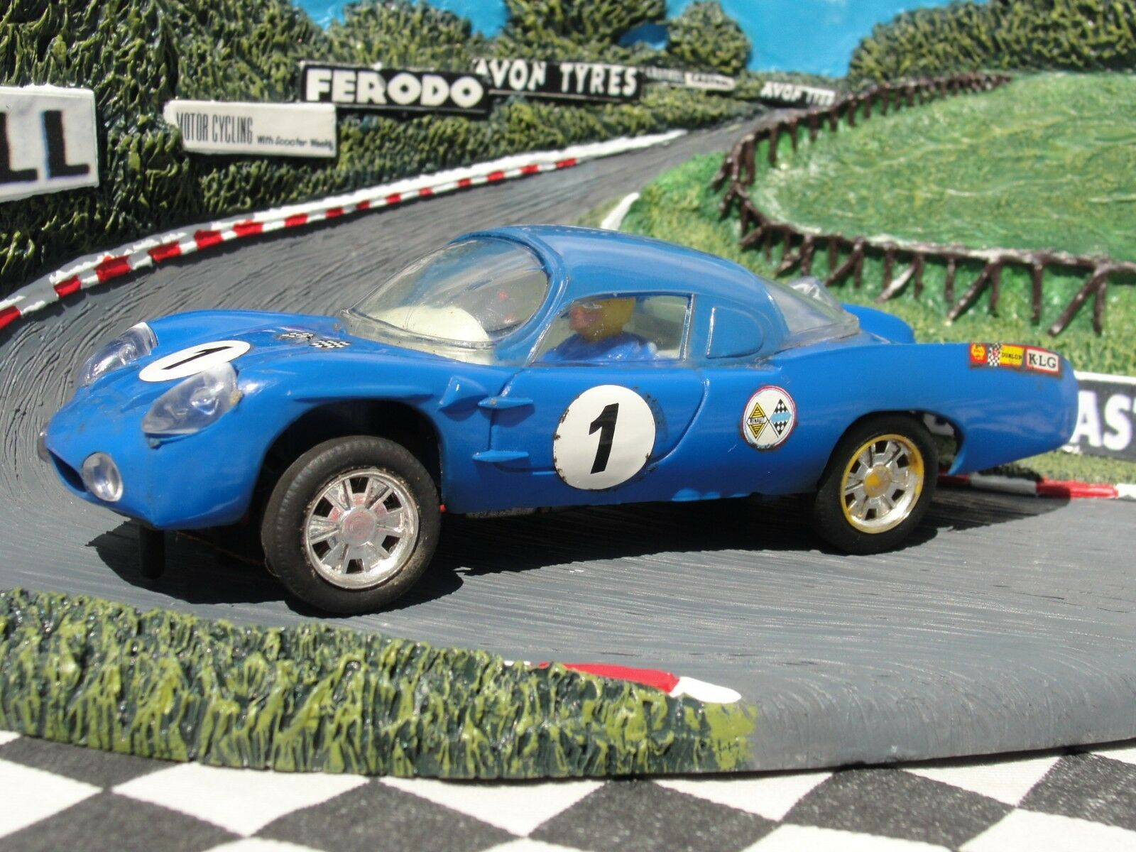 SCALEXTRIC 1960'S ALPINE RENAULT C13 blueE   1 32 SLOT USED UNBOXED