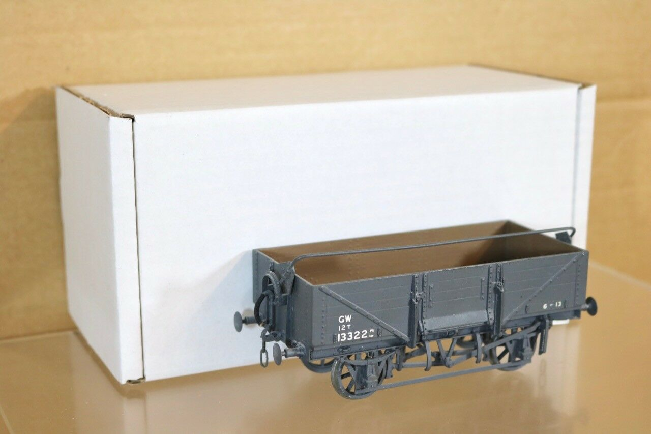 KIT BUILT O GAUGE GW GWR grigio 5 PLANK WAGON 133225 with BAR BOXED 35 nr