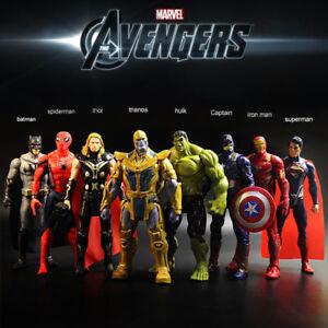 8pcs-Marvel-Avengers-Thanos-Bat-Iron-Men-Captain-America-Thor-Hulk-Figures-Set