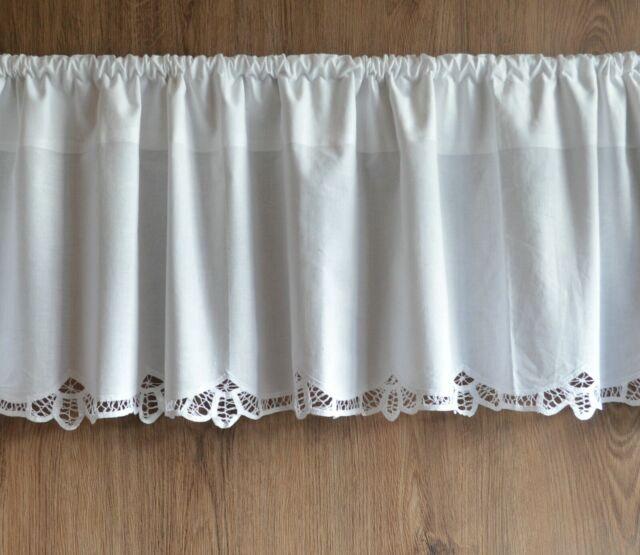 Handmade Battenburg Lace Cafe Curtain Valance White 15 50 Victorian Elegance For Sale Online Ebay