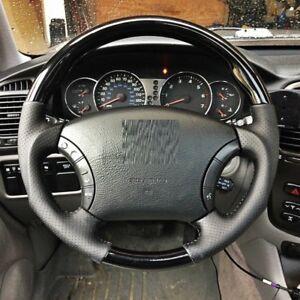 MIT Toyota Land cruiser FJ100 FJ120 Black PIANO Leather steering wheel-SPORTS