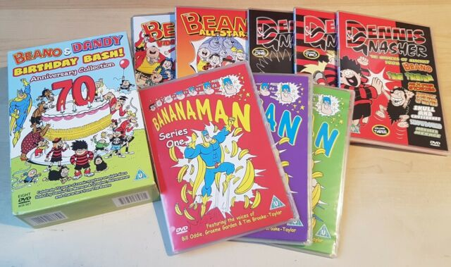 Beano & Dandy BIRTHDAY BASH 70th Anniversary (2008 8-DVD Set) Bananaman Dennis