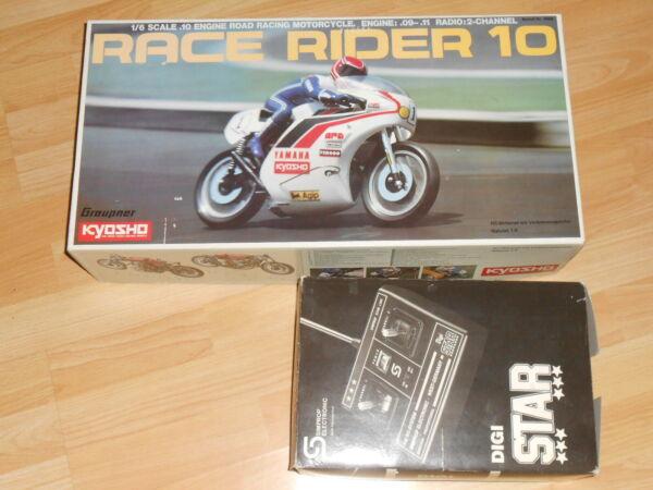 100% Vrai Graupner-kyosho Course Rider10 Moteur à Combustion Moto 1:6 # Neuf # Rareté Vous Garder En Forme Tout Le Temps