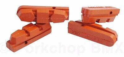 Front /& Rear Salmon Kool-Stop Shimano AX600 Adamas Replacement Brake Pad Set
