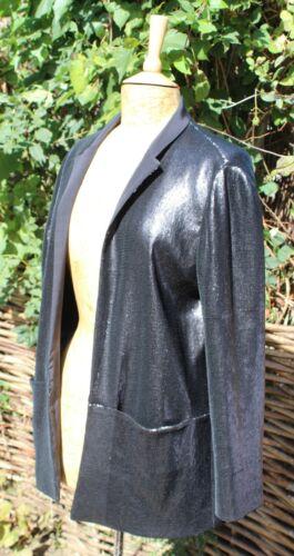 Whistles 14 Veste Silk 'eliza' de blazer soirée Sequin de Uk 'Black qXSv6q
