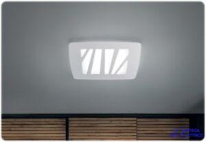 Plafoniere Con Led Integrato : Zebra led plafoniera dal design moderno in 3 misure con sorgente