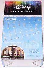 Disney Magic Holiday LED Tree Wrap PURE WHITE 2ft X 6FT 60 Lights NEW