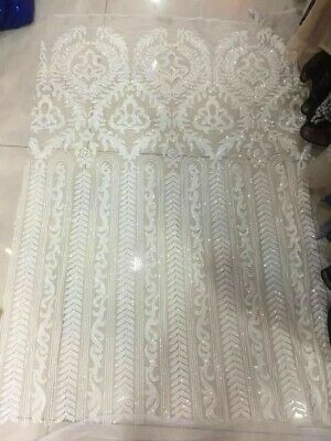 Sparkle Geometric Sequin Lace Fabric Mesh Wedding Dress Fabric 51/'/'//Y Lace Tulle