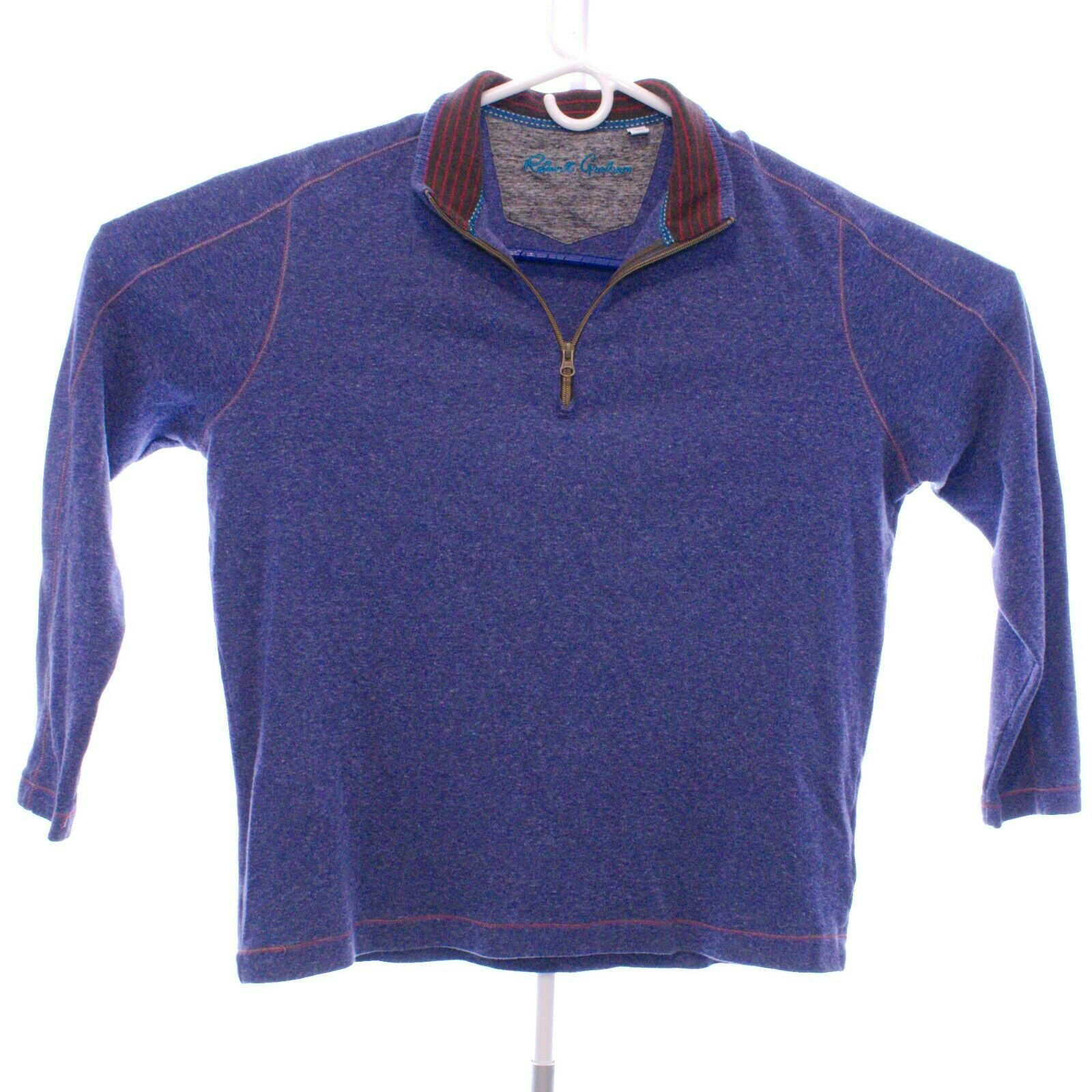 Robert Graham 1 4 Zip bluee-XL  0020