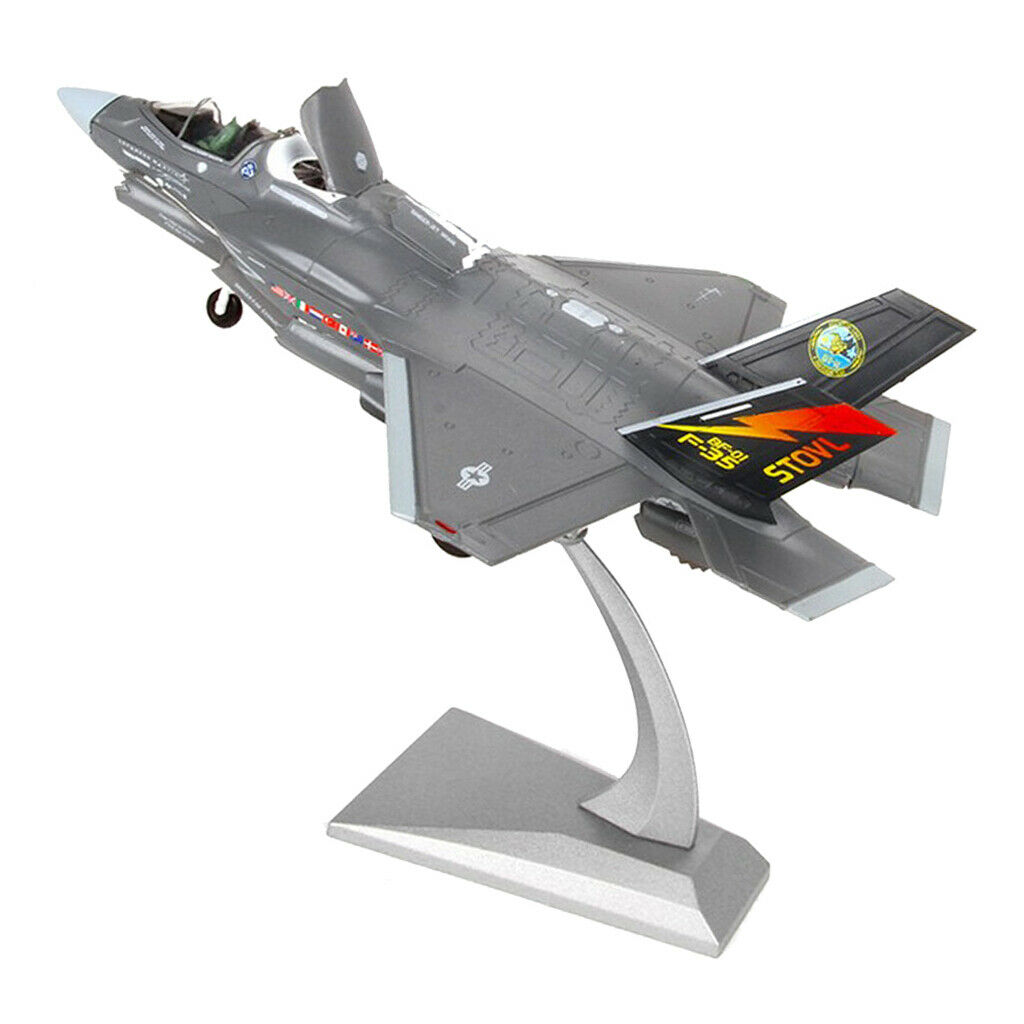 1 72 Scale American F-35B Fighter Aircraft Diecast Metal Model & Stand