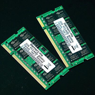 New 4GB 2X 2GB PC2-6400 2Rx8 DDR2 800 MHZ laptop 200PIN memory SO-DIMM 800MHz