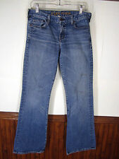 vtg Ezra Fitch Blue Jeans low-rise boot cut medium wash stretch sz 28 USA made