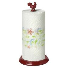 Red Rooster Paper Towel Holder - Red