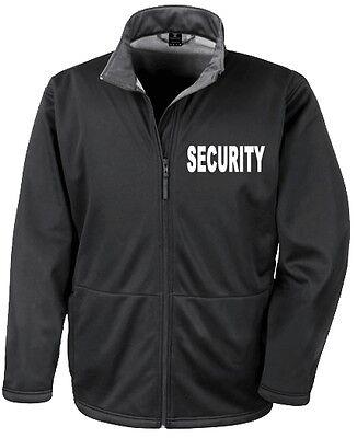 SECURITY SOFTSHELL-JACKE Sicherheit Kontrolle Ordner Sicherheitsdienst   747-19-