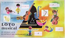 Ancien jeu éducatif Fernand Nathan Loto Musical des Notes et des Instruments