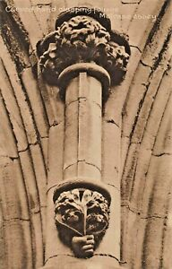 MELROSE-ABBEY-ROXBURGHSHIRE-SCOTLAND-CARVED-HAND-CLASPING-FOLIAGE-PHOTO-POSTCARD