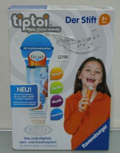 Ravensburger Tiptoider Stylet Avec Player Pen * Neuf * (q786-r48)-afficher Le Titre D'origine Finement Traité