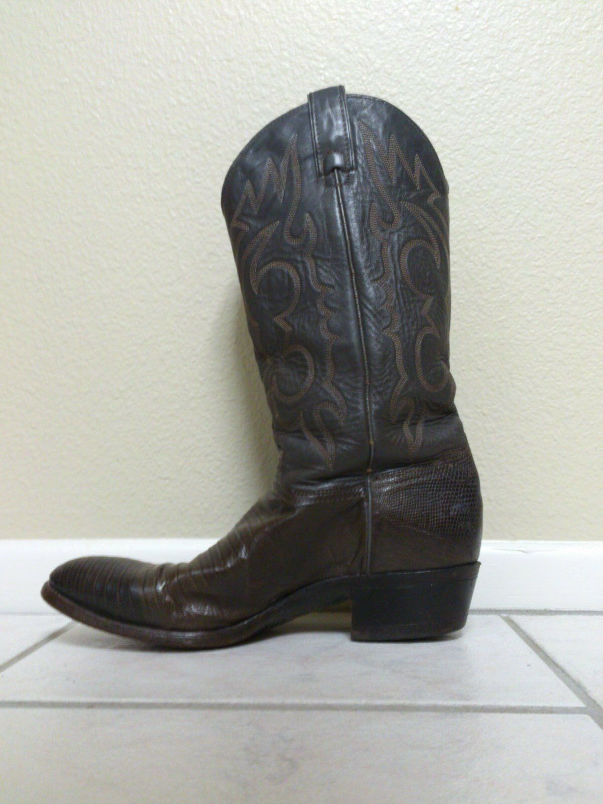 COWBOY BOOTS Imperial Exotic Lizard Skin Men's size 8.5 (read)