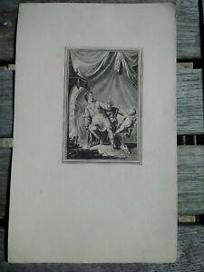 Curiosa-rare-gravure-XVIIIeme-esoterisme-alchimie-signee-TBE