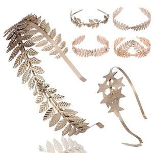Gold-Laurel-Leaf-Headband-Grecian-Headdress-Roman-Hair-Crown-Festival-UK