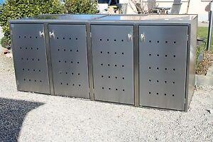 4er m lltonnenbox edelstahl m llbox m lltonnenverkleidung kein bausatz aufgebaut 4251486600314. Black Bedroom Furniture Sets. Home Design Ideas