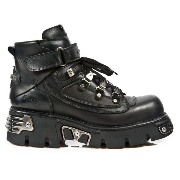 New Rock Hombre botas de Piel Metálico - M. 654-S1