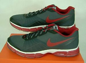 New RARE Mens 15 NIKE Dual Fusion TR 5 Gray Gym Red Shoes  631464-005