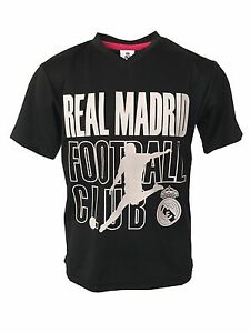 new concept 0afa3 409ad Details about Real Madrid jersey soccer Youth Boy Soccer Jersey Marcelo  Vieira 20 Black White