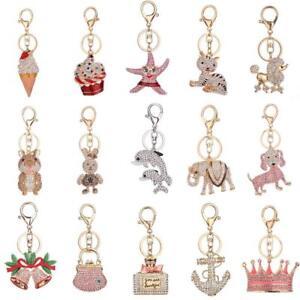 Handbag-Keychains-Crystal-Rhinestone-Charm-Keyring-Bag-Purse-Pendant-Key-Chain