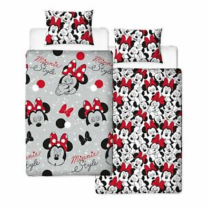 Minnie-Mouse-Mignon-Set-Housse-de-Couette-Simple-Rotatif-Enfants-Chambre